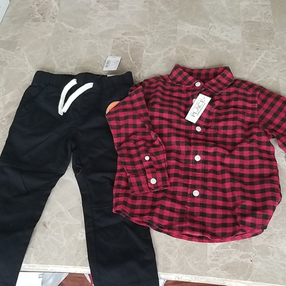 The Children's Place Plaid Outfit